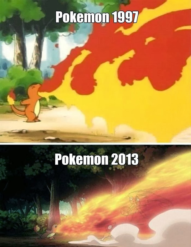 Pokemon-now-and-then
